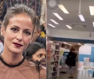 Fernanda de Freitas e, à direita, a farmácia em que teria passado constrangimento | Divulgação/TV Globo e Reprodução/Instagram