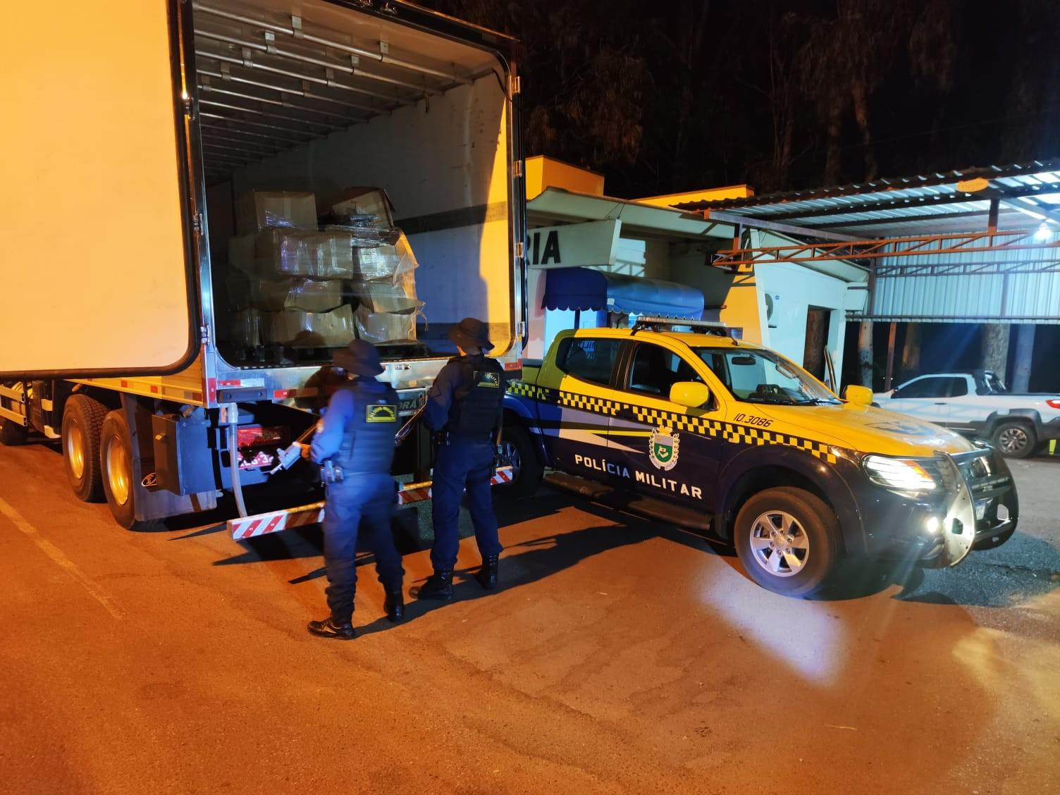 Casal é preso em rodovia de MS transportando 505 quilos de cocaína em carga de carne bovina