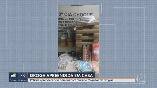 Polícia prende dois suspeitos e apreende barras de drogas em São Joaquim de Bicas