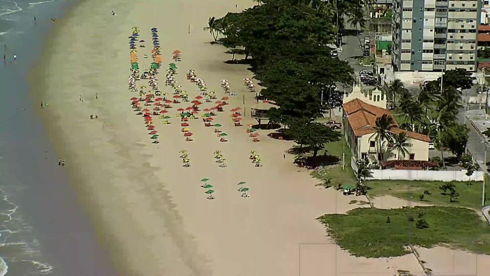 De cada cinco incidentes com tubarão em Pernambuco, um aconteceu na área da Igrejinha de Piedade — Foto: Reprodução/TV Globo