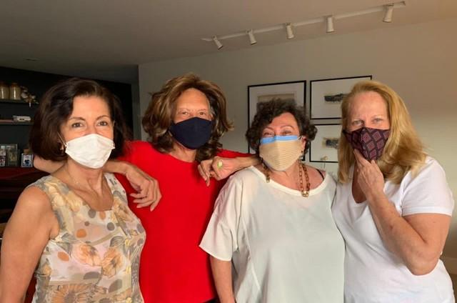 Nádia Nardine, Divina Valéria, Bárbara Bruno e Lucinha Lins  (Foto: Divulgação)