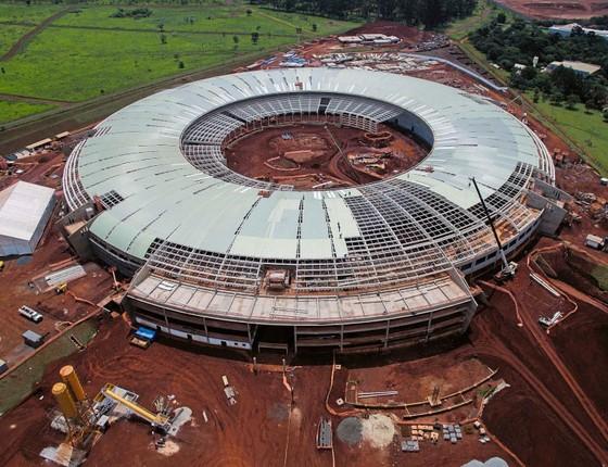 As obras do acelerador de partículas Sirius,em Campinas. A crise diminuiu o repasse de verbas para o projeto (Foto: Rogério Cassimiro/ÉPOCA)