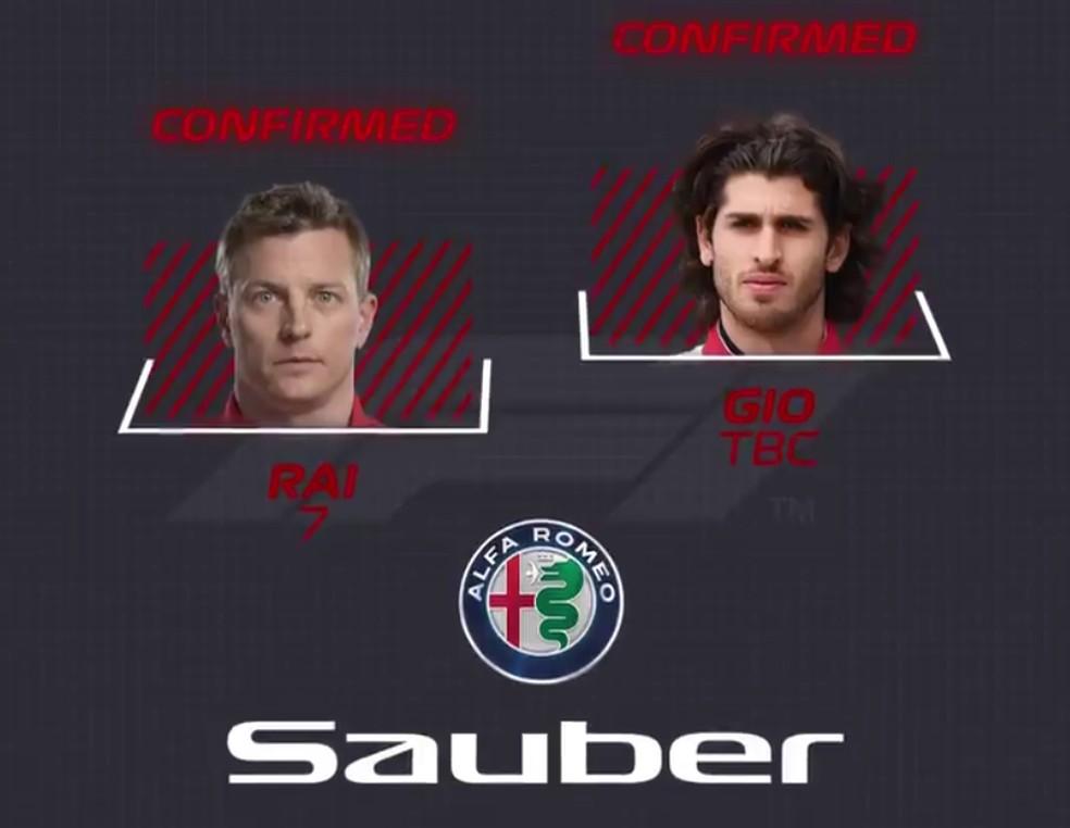 Sauber — Foto: Reprodução