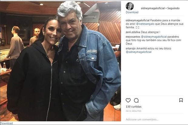 Sidney Magal desejou felicidades à família (Foto: Reprodução/Instagram)