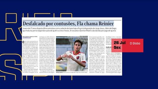 Mesa debate o possível uso de Reinier pelo Flamengo contra o Emelec pela Taça Libertadores