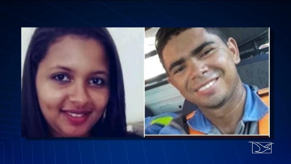 Elisanda da Silva e Manoel da Silva viveram em união estável por seis anos e tiveram um fim de relacionamento conturbado, segundo a polícia — Foto: Reprodução/TV Mirante
