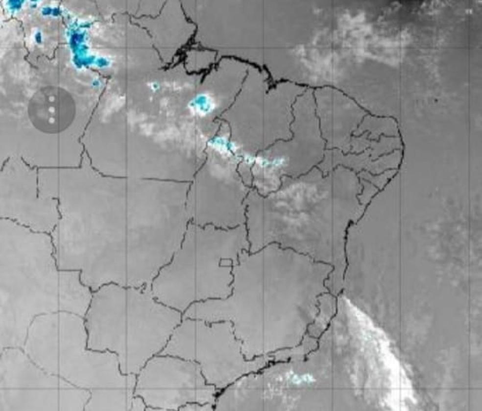Nuvens de tempestade sobre a região norte do estado (Foto: Reprodução)