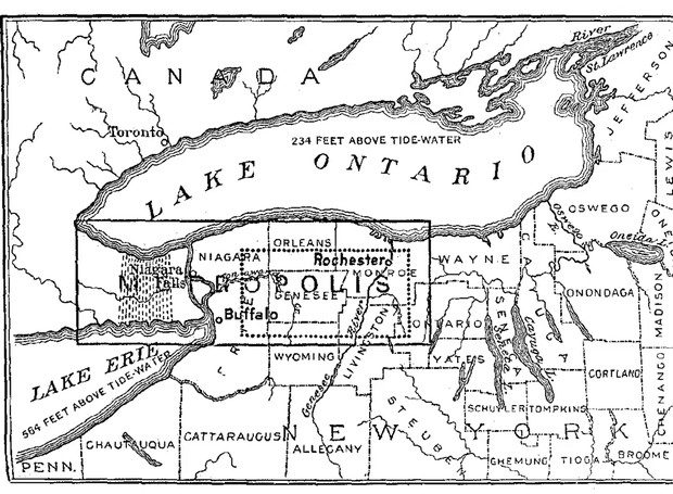 A Metropolis ficaria localizada entre as Cataratas Niagara e o estado de Nova York (Foto: The Guardian/ Reprodução)
