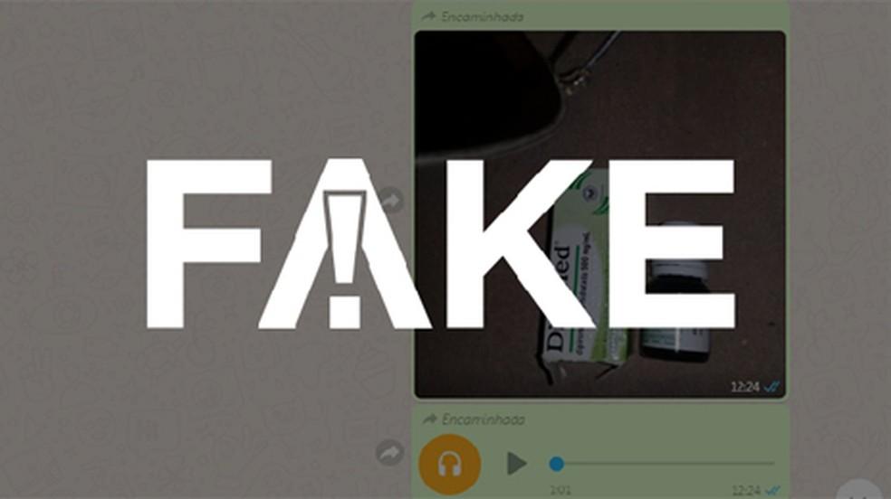 Dipirona fake — Foto: Reprodução/ WhatsApp