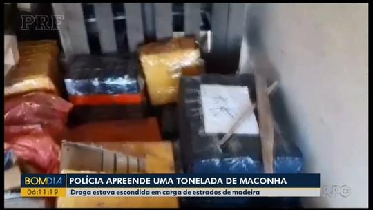 Mais de 1 tonelada de maconha é apreendida em caminhão-tanque, em Santa Terezinha de Itaipu