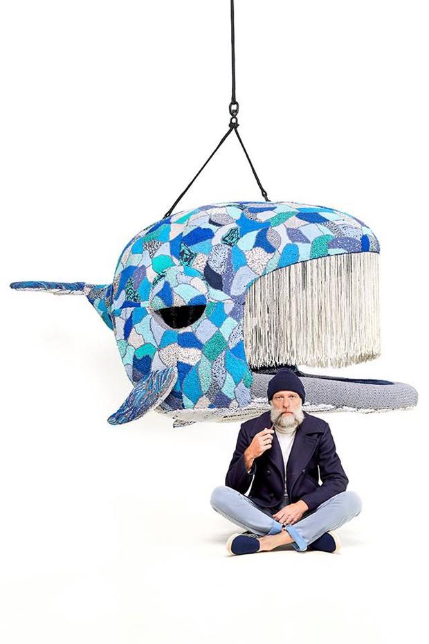 Designer cria peça gigantes em formato de animaiss (Foto: Reprodução)