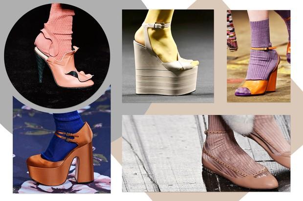 Sandália com meia (Foto: Reprodução)