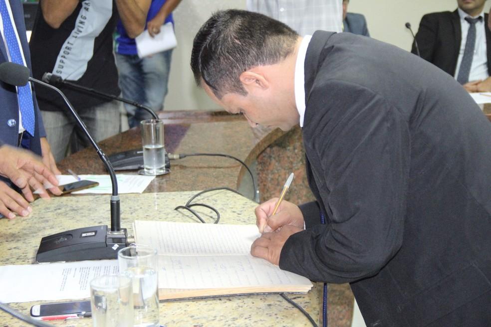 Vereador assume mandato por 90 dias  (Foto: Divulgação/Assessoria )