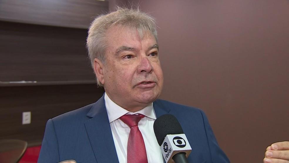 Luiz Carlos Machado é candidato ao Senado pelo partido Democracia Cristã (Foto: Reprodução/RBS TV)