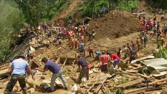 Nº de mortos após passagem de tufão nas Filipinas chega a 74