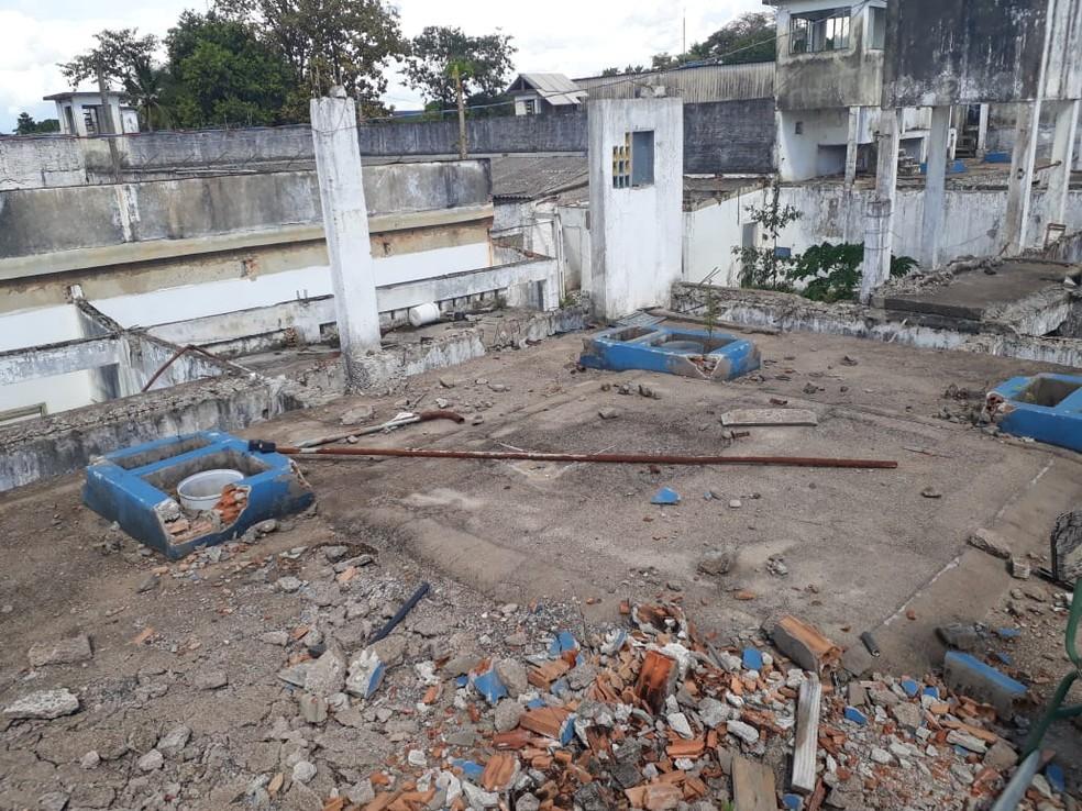 MP-RO solicita que Governo e Sejus façam a demolição de antigo presídio em Ariquemes (Foto: Divulgação)