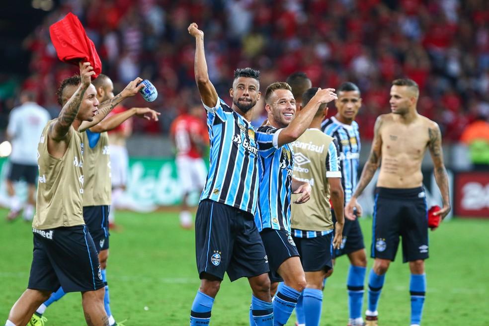 Grêmio leva rescaldo positivo após Gre-Nais ao avançar à semifinal (Foto: Lucas Uebel / Grêmio / Divulgação)