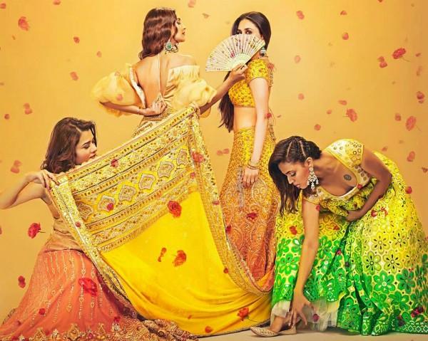 Kareena Kapoor, Sonam Kapoor, Swara Bhaskar, Shikha Talsania em Veere Di Wedding (Foto: Divulgação)