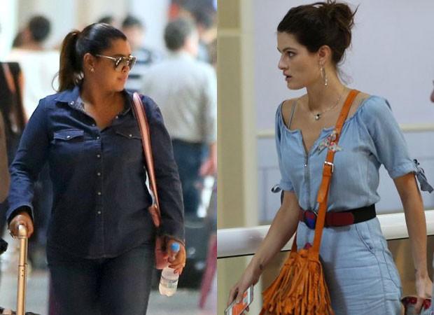 Preta Gil e Isabeli Fontana: looks jeans (Foto: AgNews)