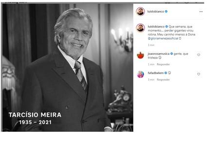 Luis Lobianco e Fafá de Belém lamentaram a perda Reprodução