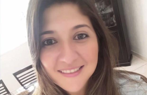 Assessora Viviane Costa Ferreira, de 27 anos, foi morta durante assalto a bancos em Goiás (Foto: Reprodução/TV Anhanguera)