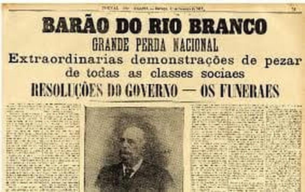 Carnaval foi adiado pela segunda vez em SP em 1912 por causa de luto: o Barão do Rio Branco morreu uma semana antes da festa, mas população saiu às ruas e comemorou a festa do mesmo jeito — Foto: Liga-SP/Divulgação