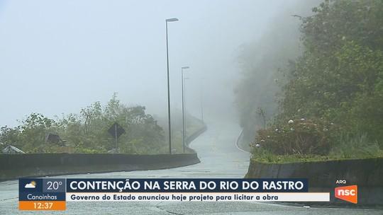 Governo de SC entrega documento que autoriza início da licitação para obras na Serra do Rio do Rastro