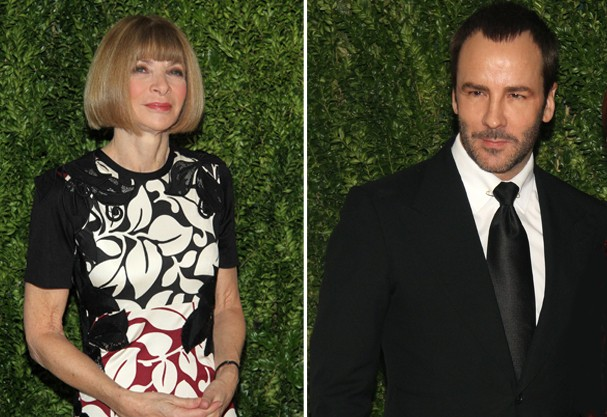 Anna Wintour e Tom Ford (Foto: Getty Images)