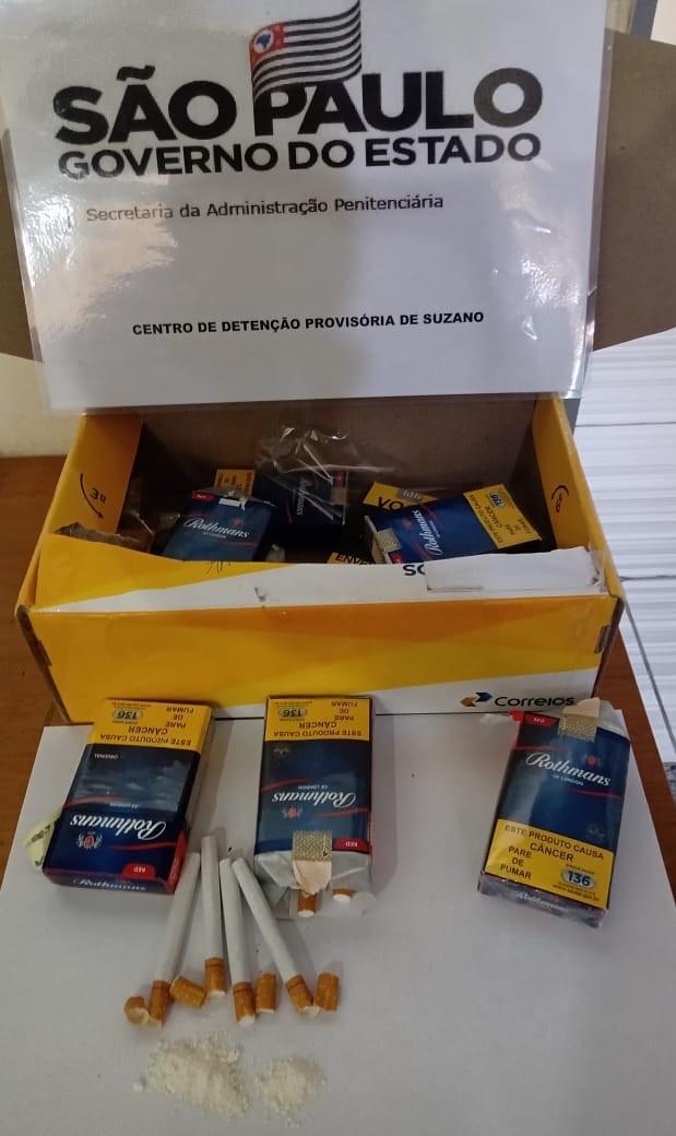 Agentes do CDP de Suzano apreendem cocaína enviada por mãe de detento dentro de cigarros