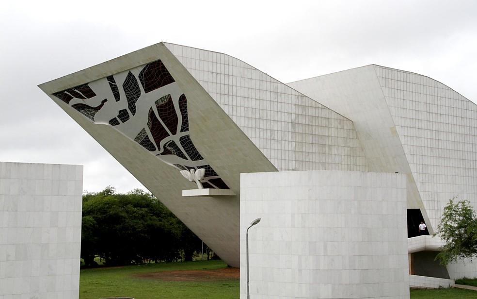 Panteão da Pátria, na Praça dos Três Poderes, em Brasília — Foto: Vianey Bentes/TV Globo