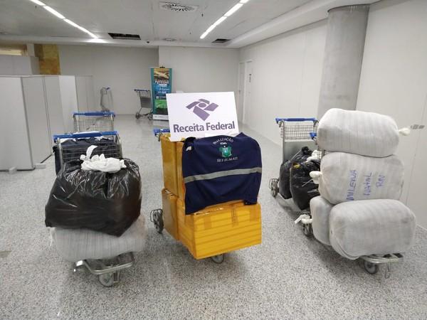 SET e Receita Federal apreendem R$ 106 mil em mercadorias sem nota fiscal no Aeroporto de Natal