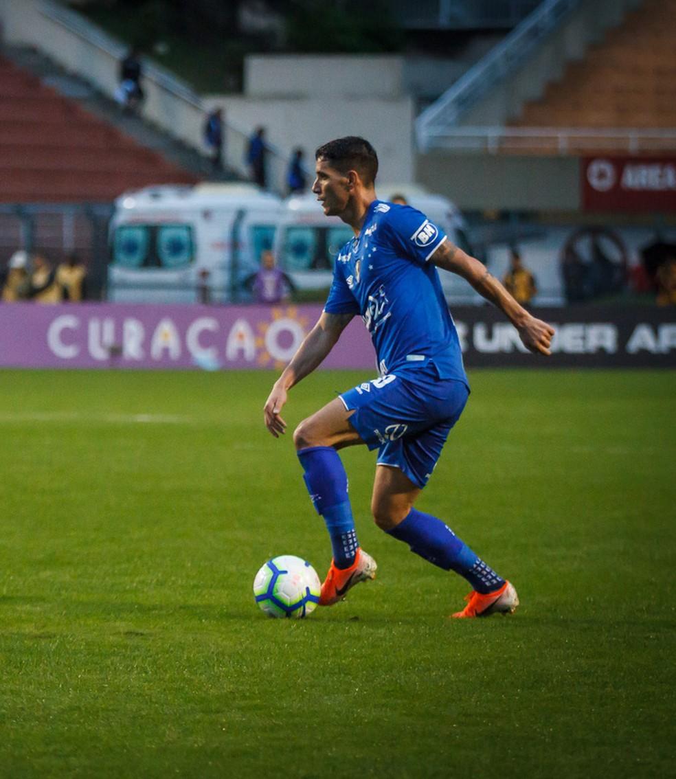 Thiago Neves garantiu o Cruzeiro determinado por classificação na Copa do Brasil   — Foto: Vinnicius Silva/Cruzeiro