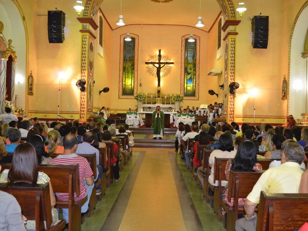 -  Igreja Matriz de Nossa Senhora da Conceição em Santarém, no Pará  Foto: Adonias Silva/G1