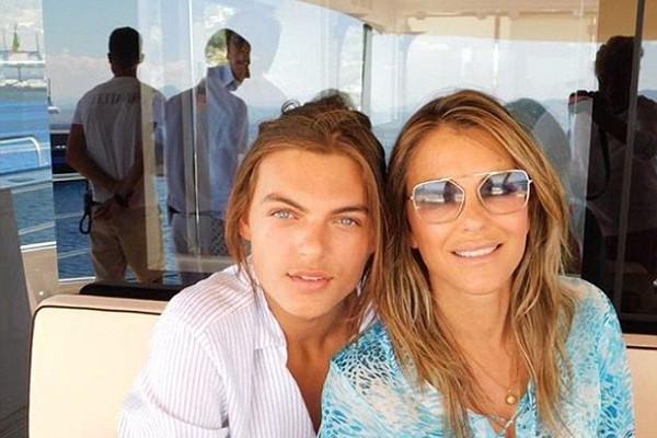 Damien e Elizabeth Hurley (Foto: Instagram)