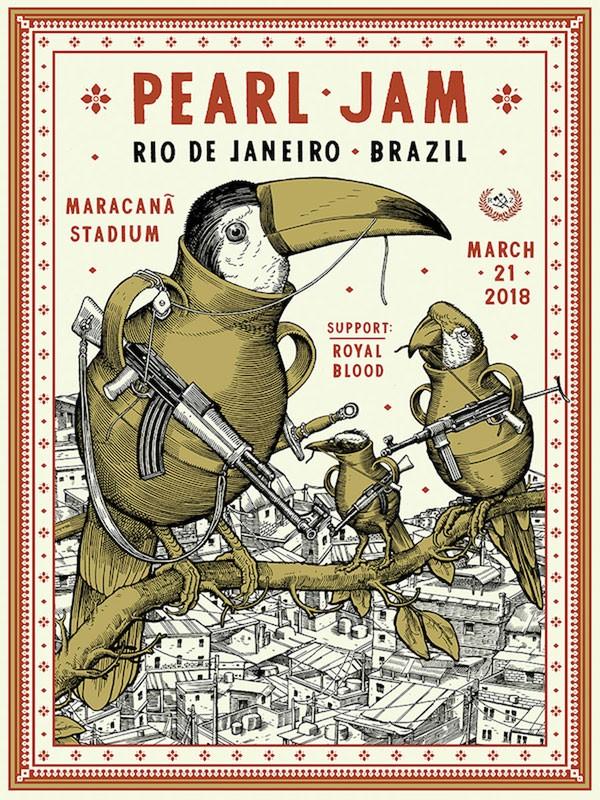 Cartaz do show no Rio também provocou polêmica (Foto: Reprodução/Twitter)