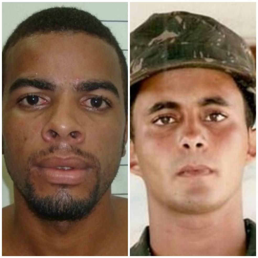 Everson Leonardo Nascimento de Lima e Elias José dos Santos da Silva estão foragidos — Foto: Polícia Civil/Divulgação