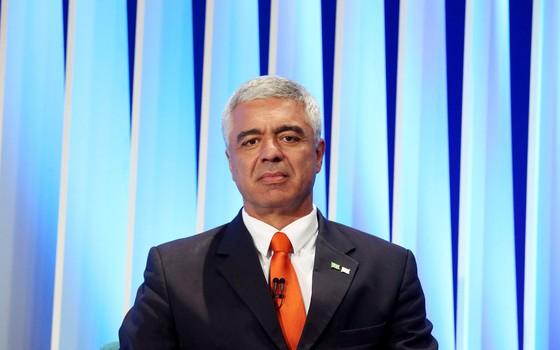 Major Olimpio  durante debate (Foto:  Fernando Neves / A7 Press / Agência O Globo)
