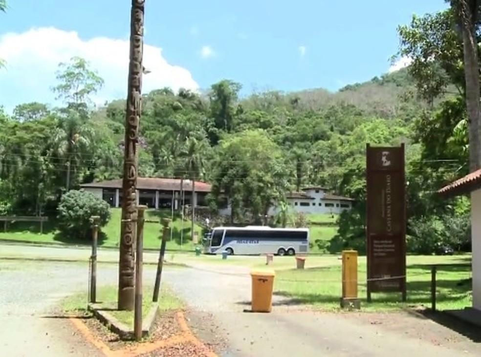 Parque da Caverna do Diabo fica em Eldorado, SP — Foto: Reprodução / TV Tribuna