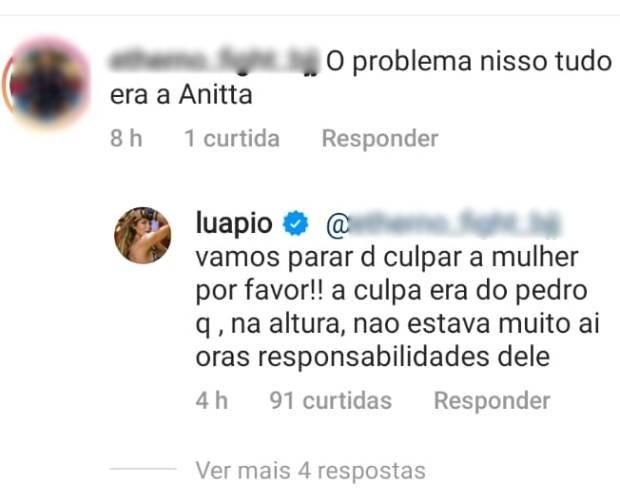 Luana Piovani responde a seguidores (Foto: Reprodução/Instagram)