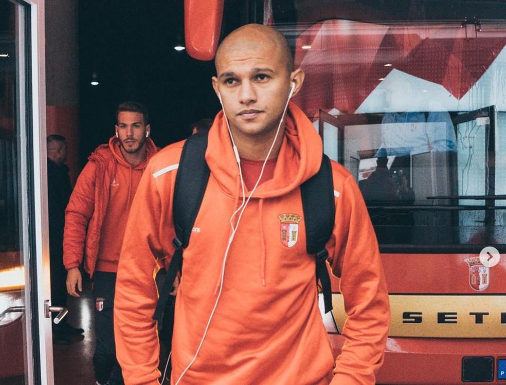 Raul é titular do Braga, que briga pelo título da competição — Foto: Instagram/Braga