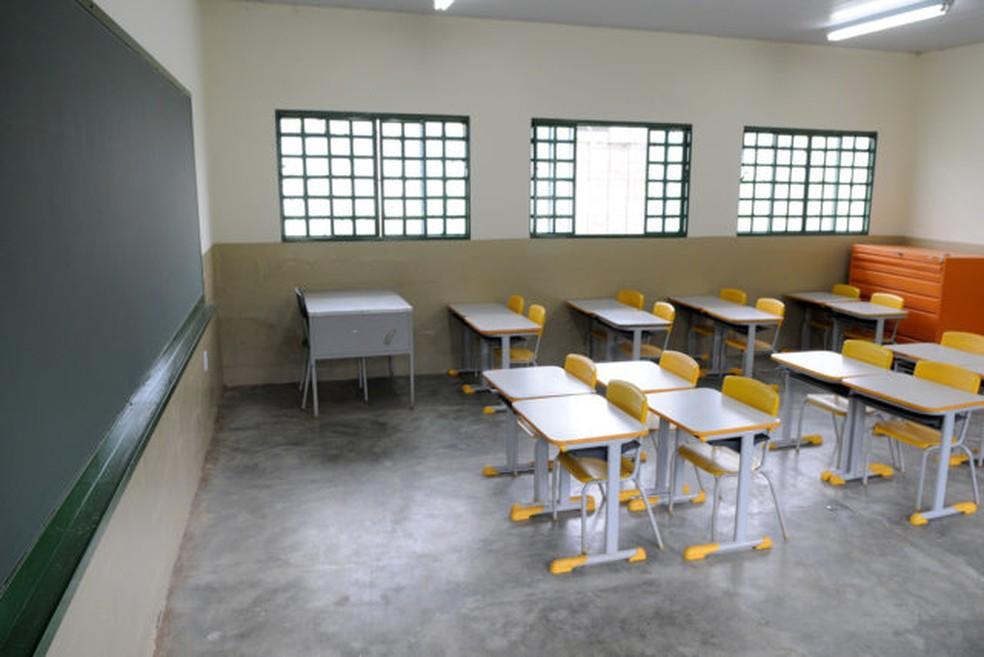 Sala de aula da Escola Classe 01 da Estrutural — Foto: Gabriel Jabur/Agência Brasília