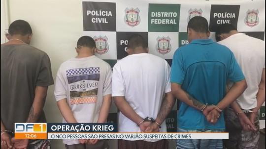 Polícia prende cinco pessoas no Varjão suspeitas de diversos crimes