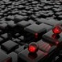 Papel de Parede: Black and Red 3D