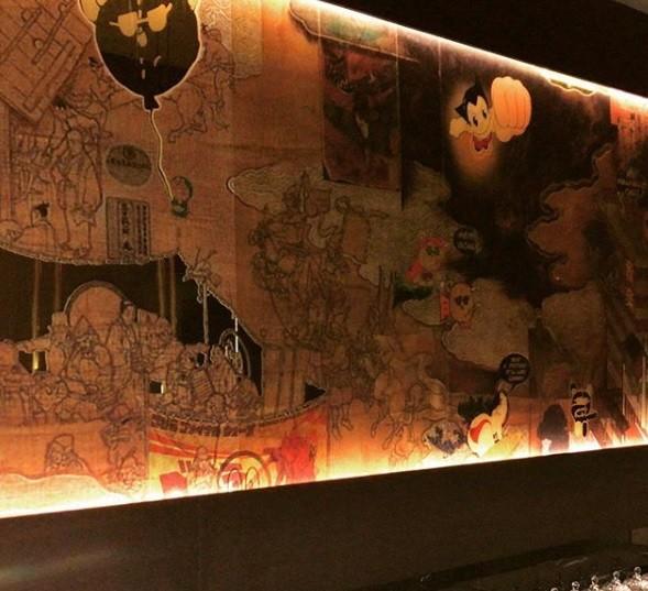 Painel do Toy Sushi feito pelo artista Antonio Tradissi (Foto: Reprodução)