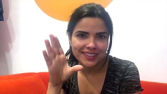 Vanessa Giácomo chora após cena de briga de Antônia e Júlio em 'Pega Pega'
