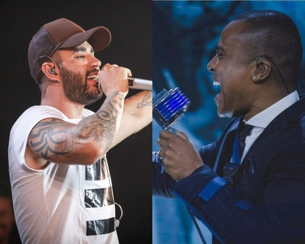 Gusttavo Lima e Alexandre Pires tiveram desentendimento por horário de shows em Santa Catarina — Foto: Divulgação
