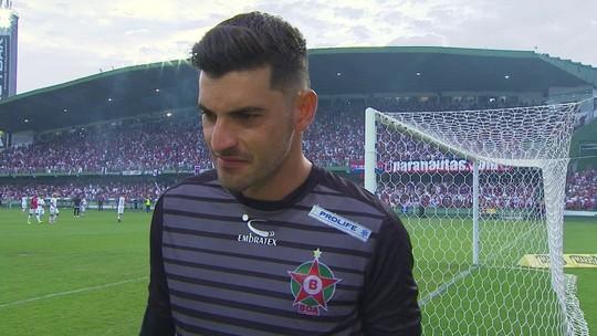 Fabrício, goleiro do Boa Esporte, fala sobre a despedida do goleiro Marcos dos gramados