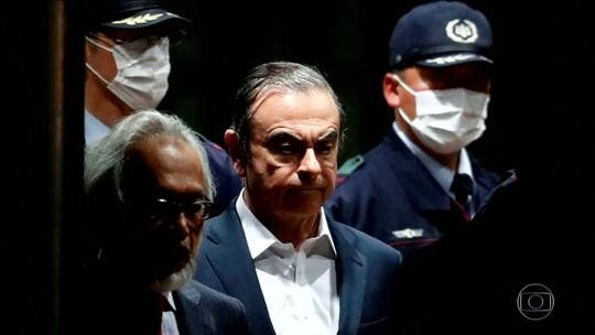 Carlos Ghosn deixa prisão no Japão pela segunda vez