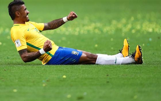 Paulinho, meia da seleção brasileira. O ex-corintiano chegou à Copa de 2018 por ser decisivo no ataque (Foto: Getty Images)