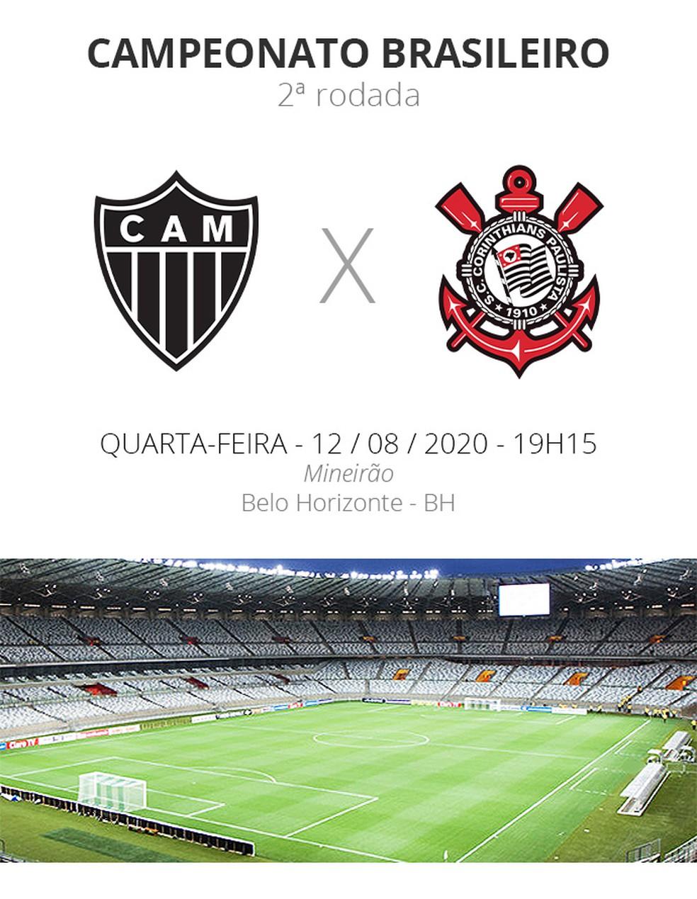 Atletico Mg X Corinthians Veja Onde Assistir Escalacoes Desfalques E Arbitragem Brasileirao Serie A Ge